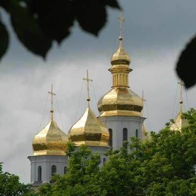 Złote kopuły soborów - symbol Kijowa i Ukrainy.
