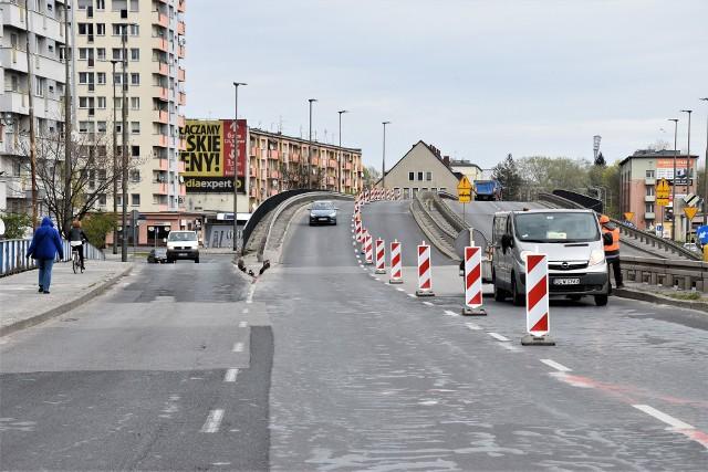 Ograniczenia na estakadzie nad rondem na pl. Konstytucji 3 Maja i na moście na ul. Nysy Łużyckiej w Opolu