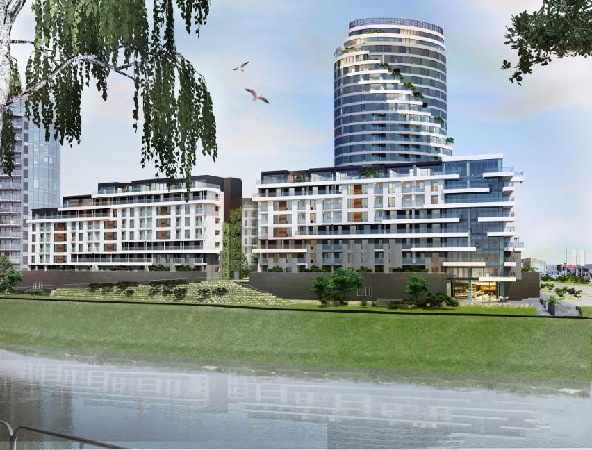 Trzy nowoczesne budynki mieszkalne powstaną przy moście...