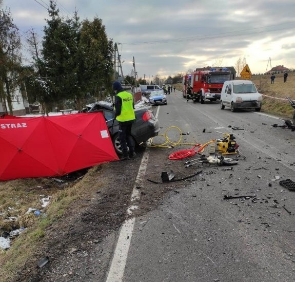 Śmiertelny wypadek drogowy w Przytkowicach