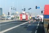 Wypadek motocyklisty w Katowicach na ulicy Kościuszki. Mężczyzna trafił do szpitala