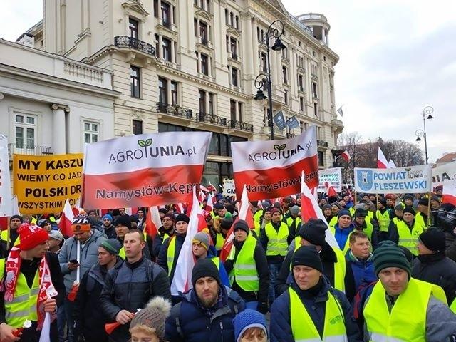 """W stolicy odbył się protest rolników pod nazwą """"Oblężenie..."""