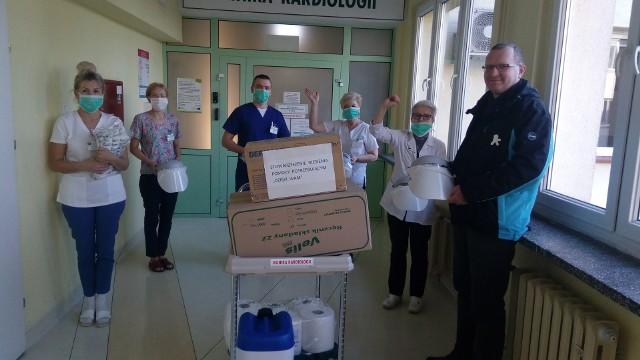 Jedną z oddziałów, który otrzymał wsparcie była Klinika Kardiologii w Szpitalu Uniwersyteckim nr 2 im. Biziela w Bydgoszczy.