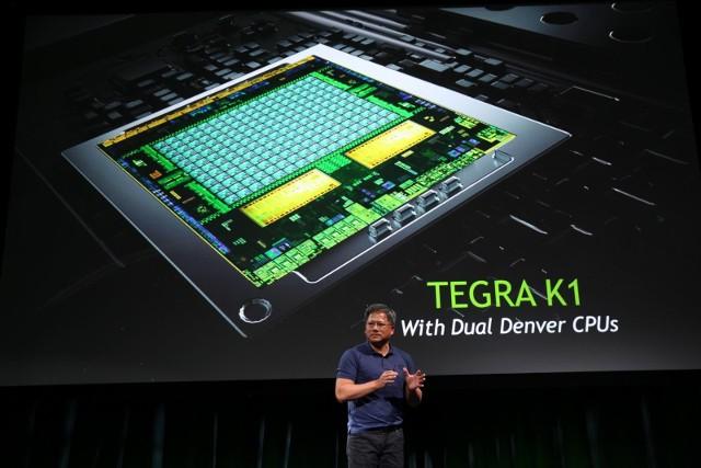 Nvidia Tegra K1Jen-Hsun Huang, współzałożyciel i dyrektor generalny firmy Nvidia prezentuje procesor Tegra K1