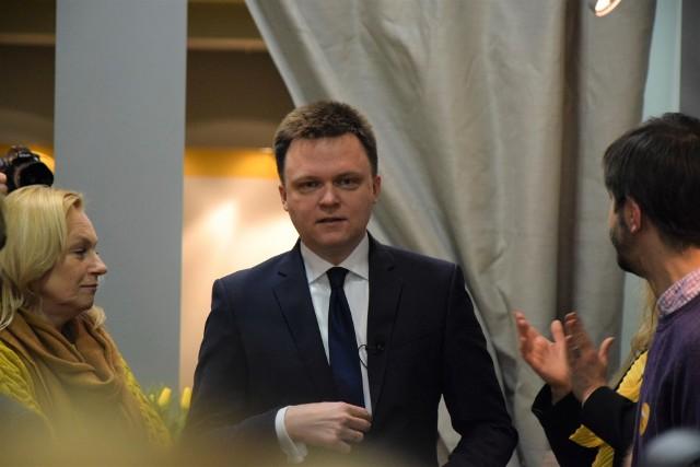 Szymon Hołownia, kandydat na prezydenta Polski, otworzył w sobotę 22.02.2020 w Gdyni swoje regionalne biuro