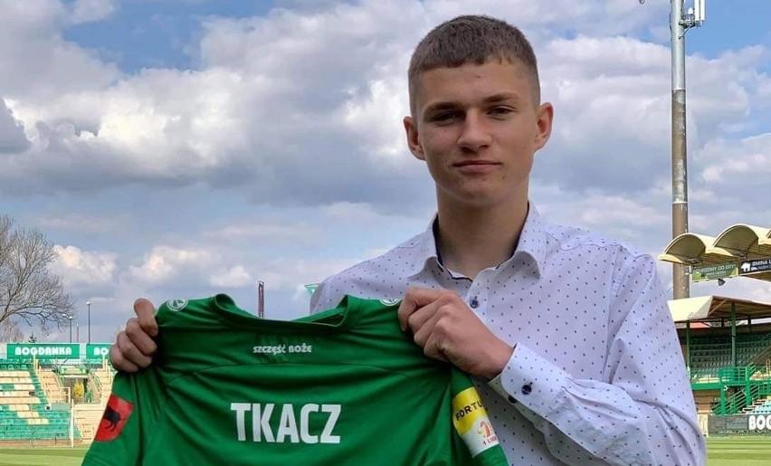 Dawid Tkacz, najmłodszy debiutant