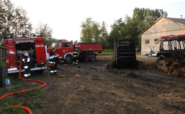 W gaszeniu pożaru w Kutyłowie-Perysiach wzięło udział 9 zastępów straży