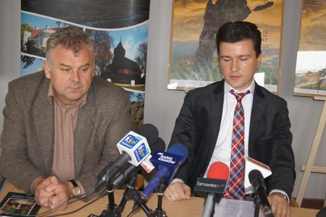 W konferencji poświęconej festiwalowi wziął udział wicestarosta tarnowski Zbigniew Karciński oraz dyrektor Centrum Paderewskiego Łukasz Gaj