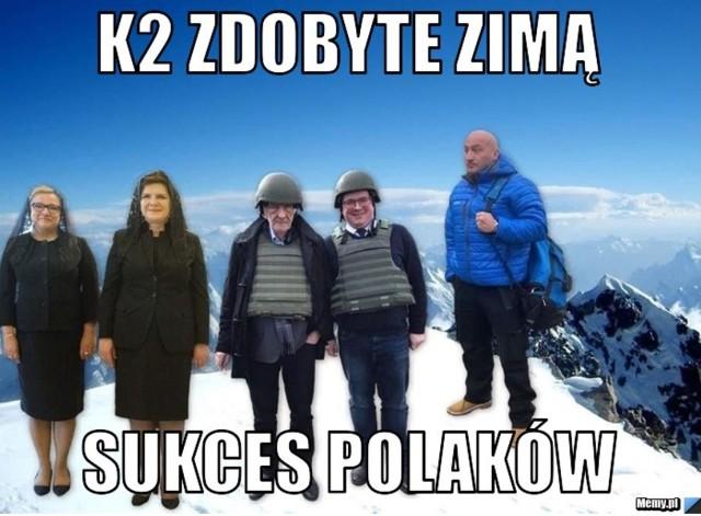 Memy o K2 pojawiły się w polskim internecie błyskawicznie.Zobacz najlepsz ememy o zdobyciu K2 zimą