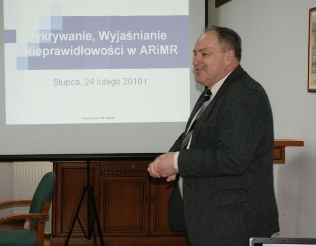 Andrzej Sipowicz miał wykład na temat płatności bezpośrednich w polskim rolnictwie w najbliższych pięciu latach