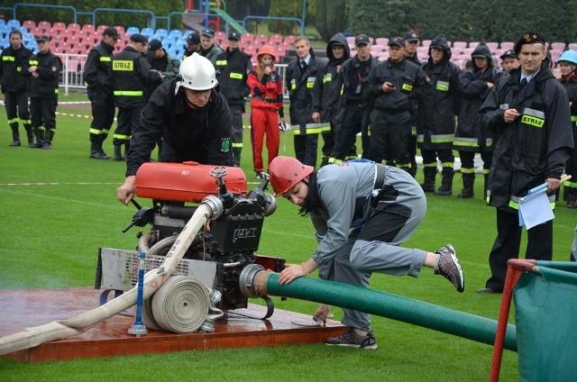 Zawody strażackie rozegrano na stadionie miejskim w Wodzisławiu Śl.