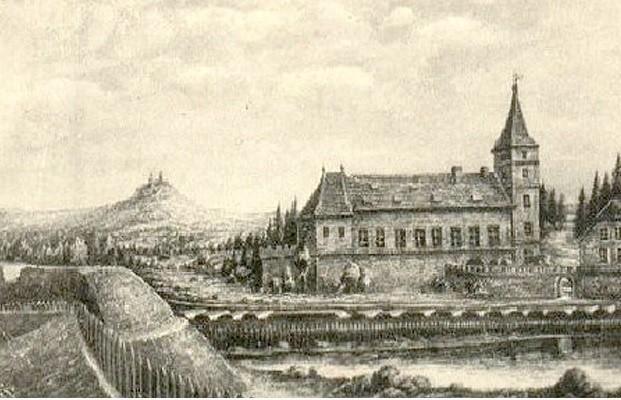 Tak miasto mogło wyglądać w XVII wieku. Rycina powstała w wieku XIX.