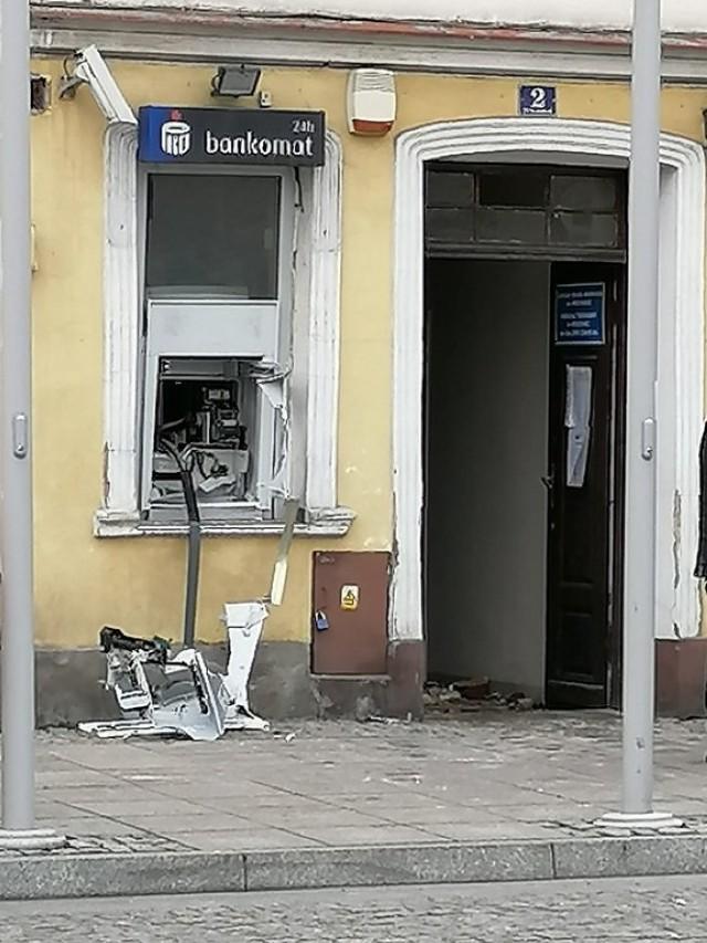 Na rynku w Rydzynie wysadzono bankomat.