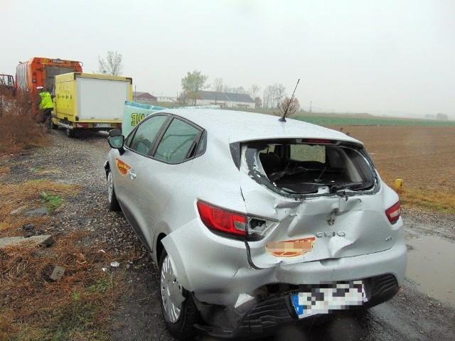 Do zderzenia doszło na DK 46 w Sidzinie.