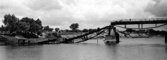 Tak wyglądał most w Broku zaraz po wysadzeniu go we wrześniu 1939 r.