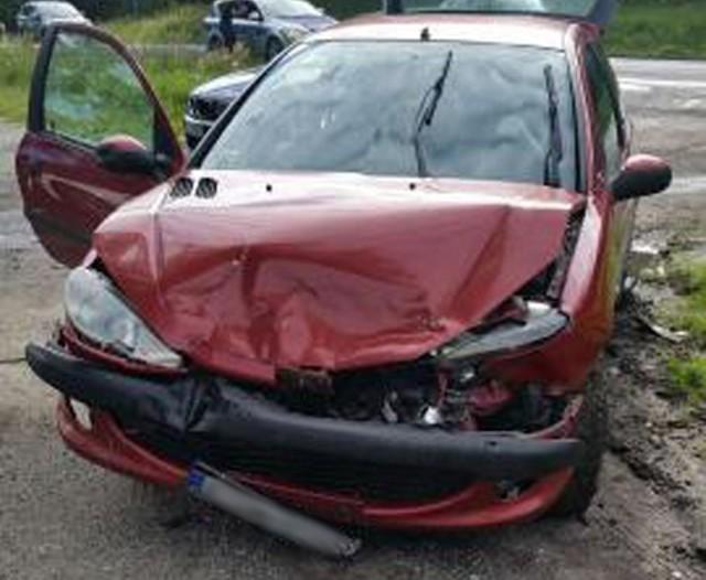 Peugeot zderzył się z bmw