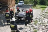 Podhale: Niecodzienny wypadek w Bukowinie Tatrzańskiej [GALERIA]