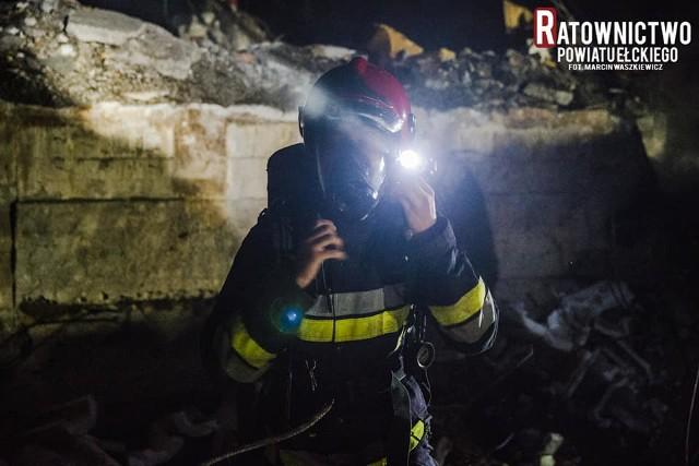 Reporterzy portalu Ratownictwo Powiatu Ełckiego powiadomili ełckich strażaków o pożarze przy ulicy Bora Komorowskiego w Ełku.