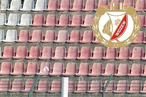 Pusty stadion Widzewa