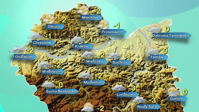 Prognoza pogody dla Małopolski na środę