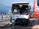 Groźny wypadek w Ruścu koło Bełchatowa. Zderzenie dwóch autokarów wiozących dzieci. Kilkanaście osób rannych