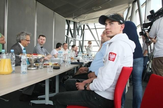 Kamil Stoch na Targach Plastpol w Kielcach
