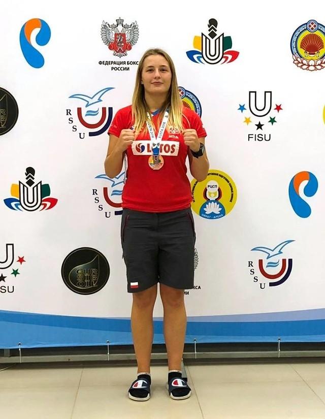 Hanna Solecka wywalczyła w Rosji brązowy medal Akademickich Mistrzostw Świata w boksie