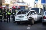 Wypadek na Piotrkowskiej. MPK Łódź nie pomaga rannemu kierowcy