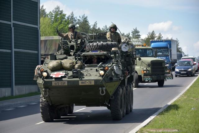 Amerykańskie wojsko w Polsce podczas tegorocznych manewrów Anakonda