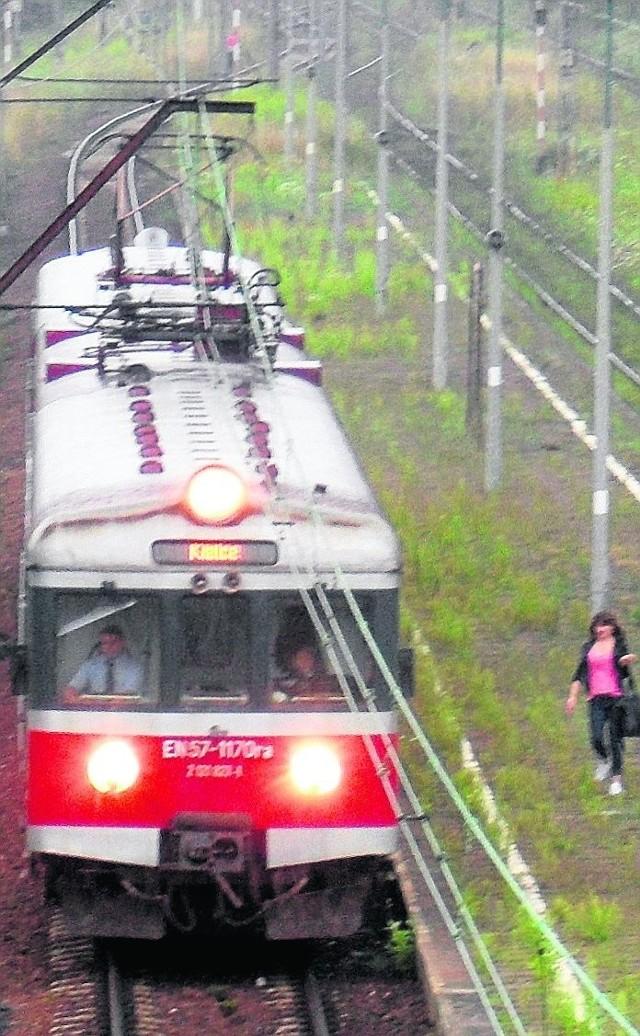 Pociągi na linii do Olkusza i Kielc jadą teraz objazdem