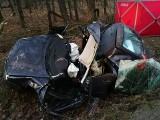 Koszmarny wypadek w Kleszczowie. Golf wypadł z jezdni. 52-latek zginął na miejscu