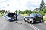 Wypadek w Brusach. Dwie osoby trafiły do szpitala [zdjęcia]