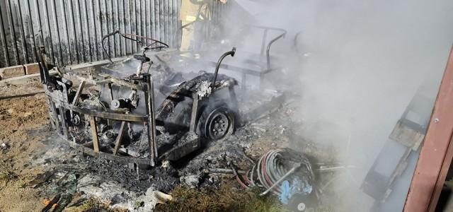 W Nowęcinie w niedzielę, 25.07.2021 r. spłonął meleks. Policja nie wyklucza podpalenia