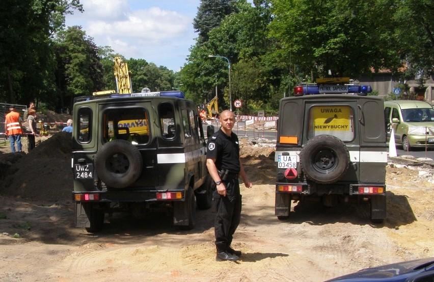 Dzisiaj przez kilka godzin policja blokowała i zabezpieczała teren w rejonie rozbudowy drogi
