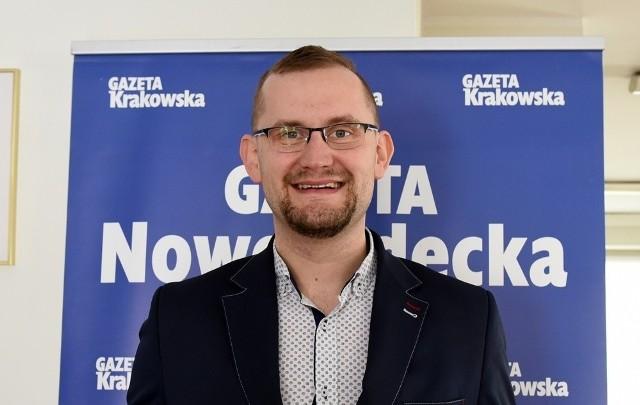 Michał Kądziołka jest drugą kadencję radnym Nowego Sącza oraz przewodniczącym Zarządu Osiedla Dąbrówka