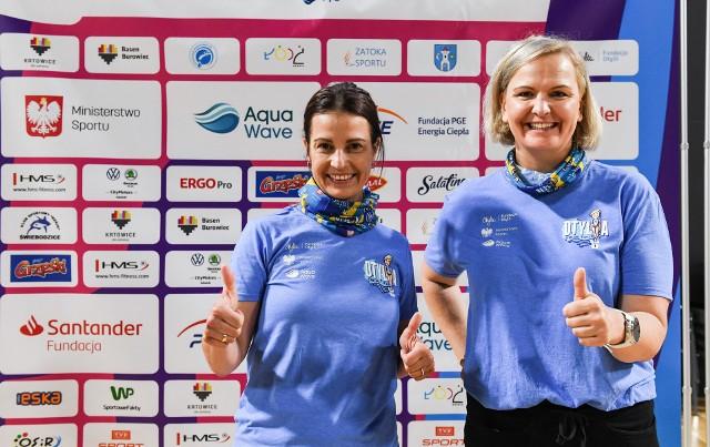 Otylia Jędrzejczak (od prawej) i Danuta Dmowska-Andrzejuk będą wspólnie motywować kobiety do aktywnego i zdrowego trybu życia