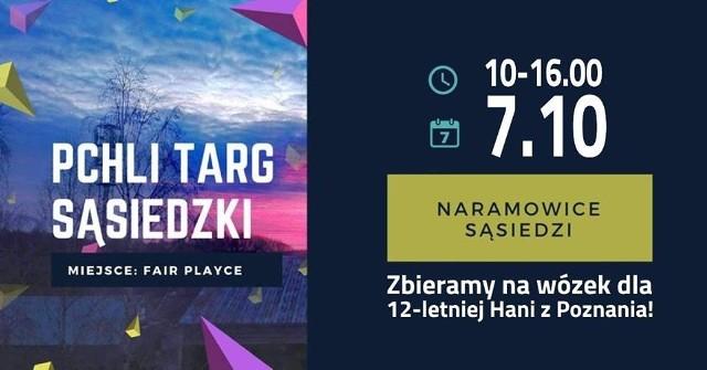 W niedzielę w Parku Rekreacyjno-Sportowym fairPlayce na Naramowicach stanie sąsiedzki pchli targ. Mieszkańcy organizują go, by pomóc 12-letniej Hani, która nie widzi, nie chodzi i wymaga stałej rehabilitacji.