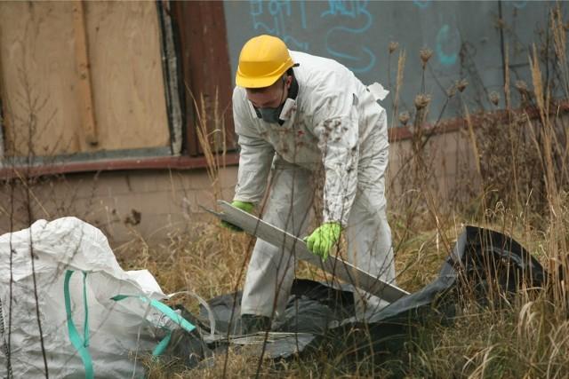 W ubiegłym roku z terenu miasta wywieziono i zutylizowano 22,29 tony wyrobów azbestowych.