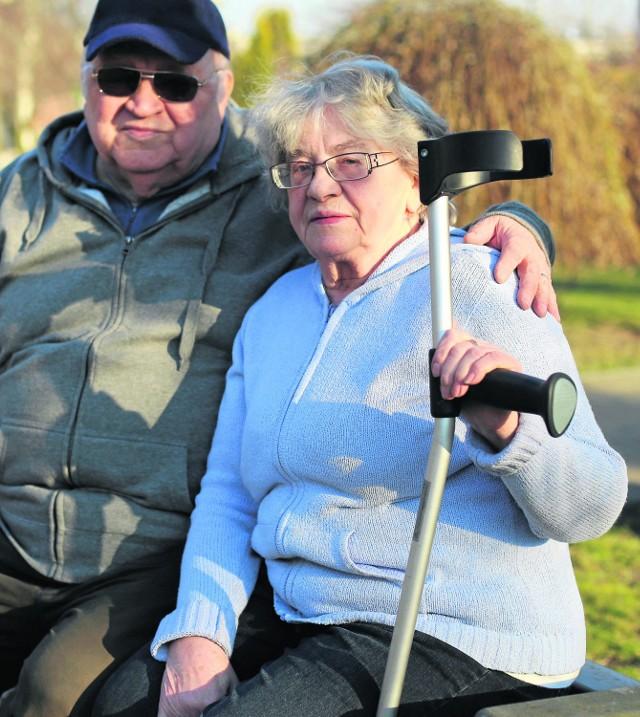 Urszula Ogierman-Borek z mężem Marcinem