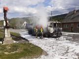 Jasienica. Ciężarówka stanęła w płomieniach