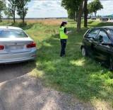 Podgórze. Wypadek na skrzyżowaniu DK 63 z DW 679. Hyundai zderzył się z fiatem punto. Jedna osoba ranna [ZDJĘCIA]
