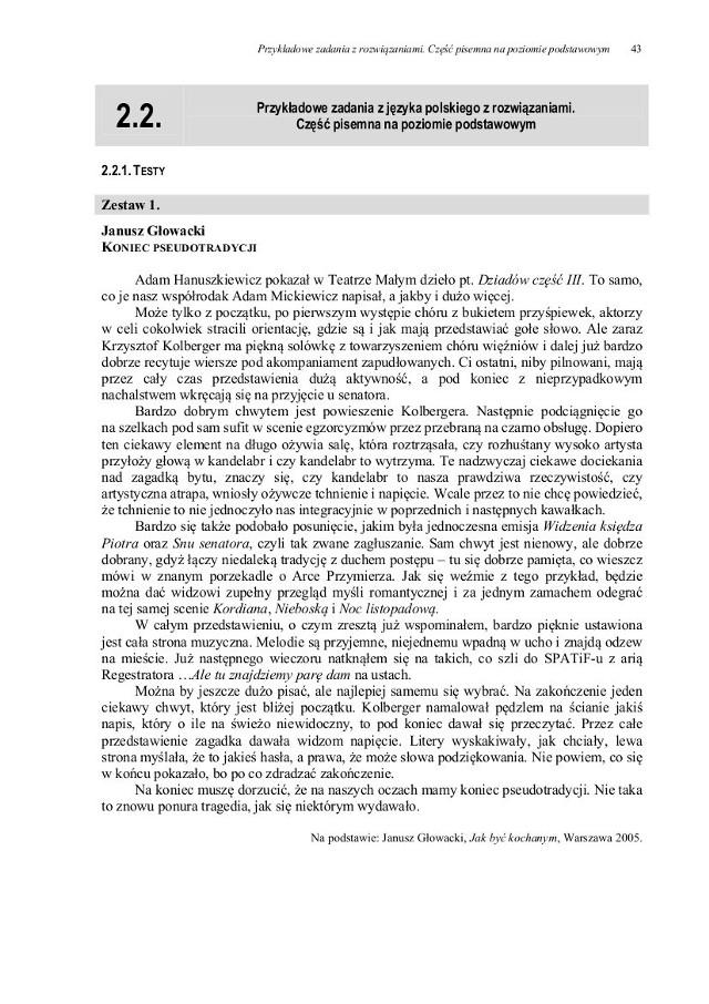 Przykładowe pytania maturalne z języka polskiego - aktualne arkusze opublikujemy, jak poda je CKE