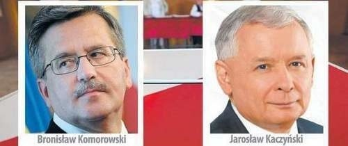 Wyniki wyborów prezydenckich 2010: Komorowski prowadzi przed Kaczyńskim w sondażowych wynikach wyborów.