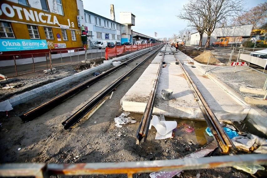 Tak powstaje tramwaj na Nowy Dwór. Zobaczcie zdjęcia