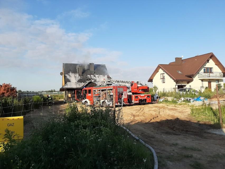 Do pożaru doszło w wsi Łagewniki w gminie Niemce