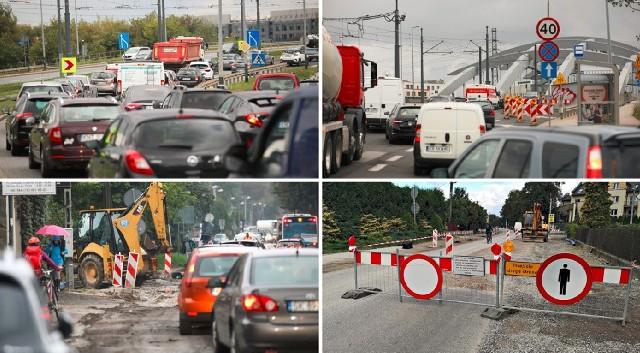 W poniedziałek (20 września) na krakowskich ulicach kierowcy od rana stali w ogromnych korkach.
