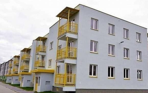 Budynki komunalne w BiałymstokuNowe budynki komunalne powstały w zeszłym roku przy ul. Borsuczej. To w sumie 87 mieszkań, dwu- i trzypokojowych.
