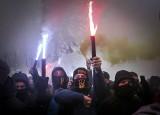 Ukraina 27.11 Stan wojenny na Ukrainie ZDJĘCIA Demonstracje w Kijowie po incydencie w Cieśninie Kerczeńskiej