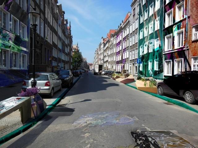 Wstępny projekt Fundacji Urban Forms dotyczący zmian na ulicy Ogarnej w Gdańsku