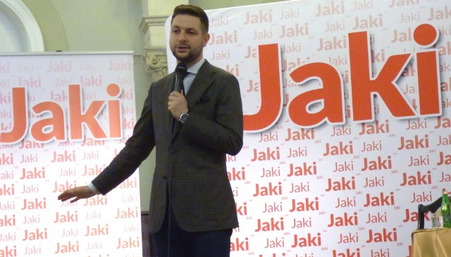 Poseł, wiceminister sprawiedliwości Patryk Jaki gościł w sobotę w Marconim w Busku-Zdroju.